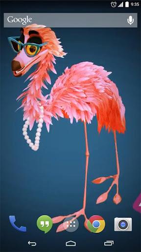 Pink Flamingos Live Wallpaper