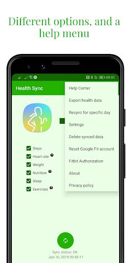 Capturas de pantalla de Health Sync 2