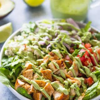 Chopped Chicken Salad with Creamy Avocado Dressing.