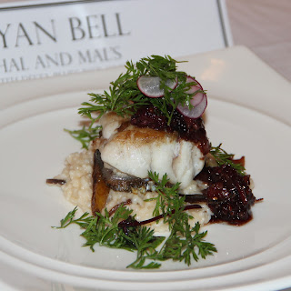 Chef Bell's Skin on Grouper with Bacon Grape Jam.