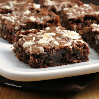 Chocolate Coconut Brownies.