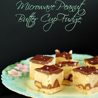 Microwave Peanut Butter Cup Fudge