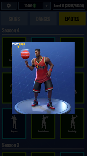 Fortnite Dances & Emotes & Skins Screenshot