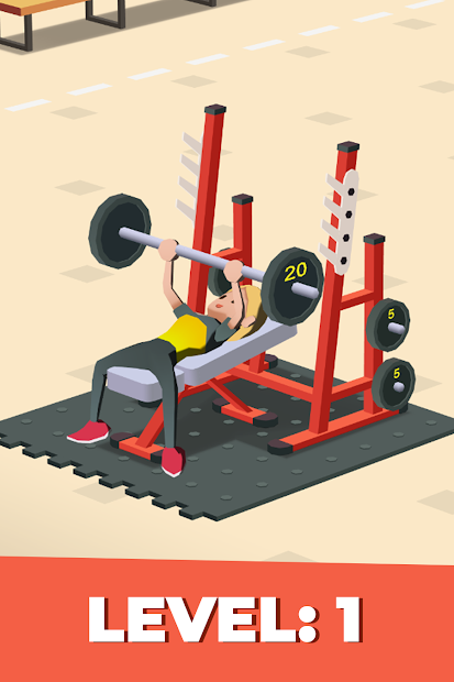 Idle Fitness Gym Tycoon - Workout Simulator Game Android App Screenshot