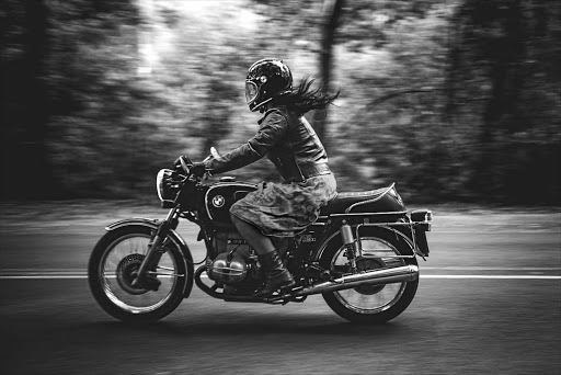 Claudia Liebenberg on her classic 1976 BMW.