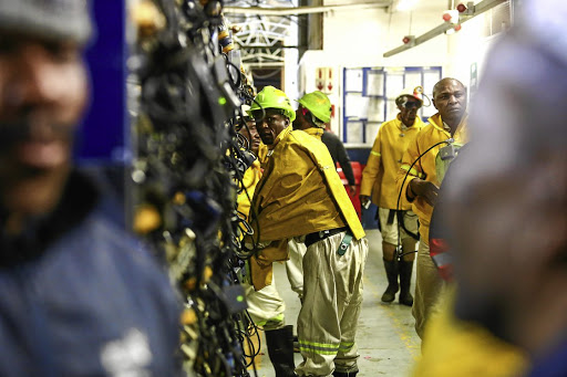 Tarnished record: SA's gold-mining industry has recorded more than 50 deaths in its mines this year. Picture: MOELETSI MABE/ SUNDAY TIMES