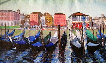 Photo: Canal en Venecia, 50x85 cm s/papel Aquari 350 g, 2005, 460 €