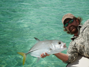 Photo: Brian Flechsig and a Horse Eyed Jack- Fall Andros Trip
