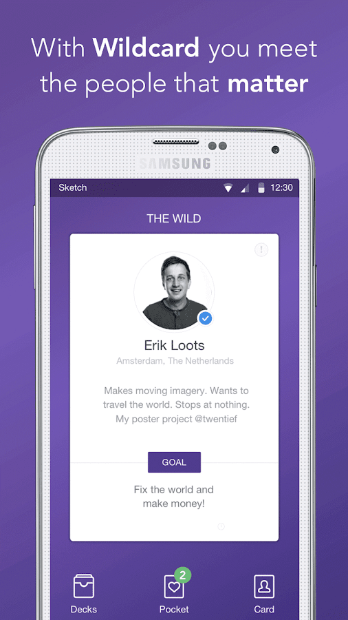 Wildcard - Discover people, work and opportunities- screenshot