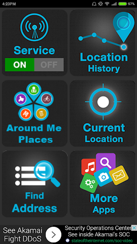 Screenshot 1 Mobile Location Tracker