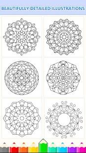 ... Mandala Coloring Pages- Anti-Stress Henna Mehndi- screenshot thumbnail ...