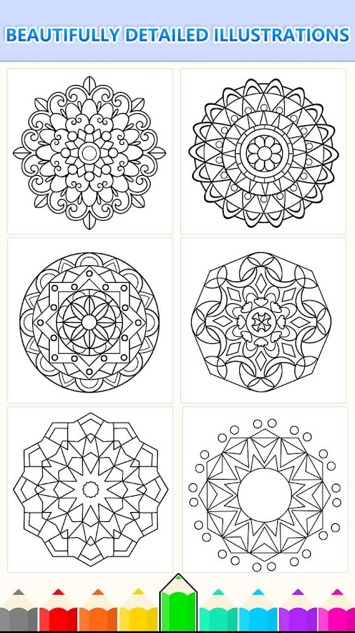 Mandala Coloring Pages- Anti-Stress Henna Mehndi - Android Apps on ...