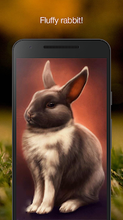 Cute fluffy rabbit live wallpaper - náhled