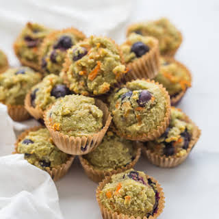 Gluten-Free Muffins for Kids (with Blueberries and Avocado).