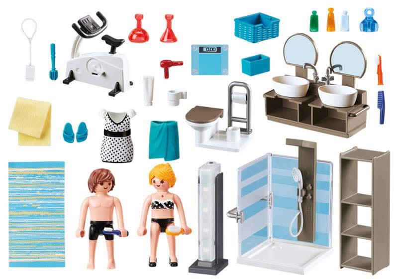 Contenido real de Playmobil® 9268 Baño