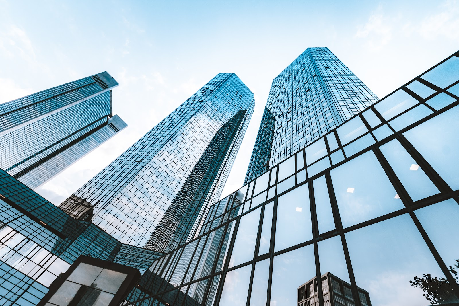 buy and hold strategy: glass buildings