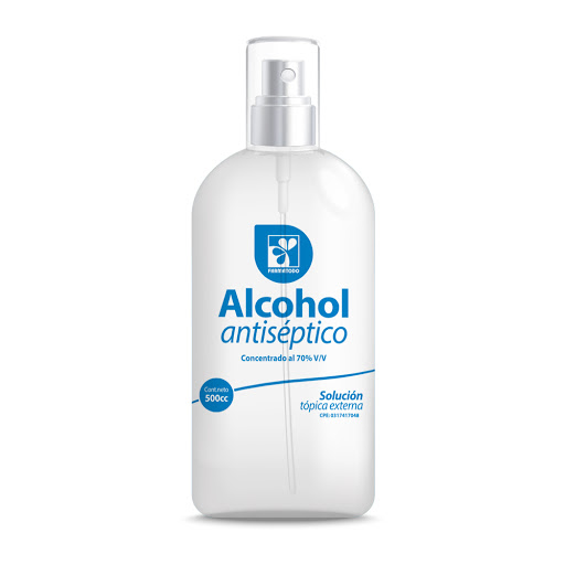 alcohol antiseptico farmatodo spray 500ml