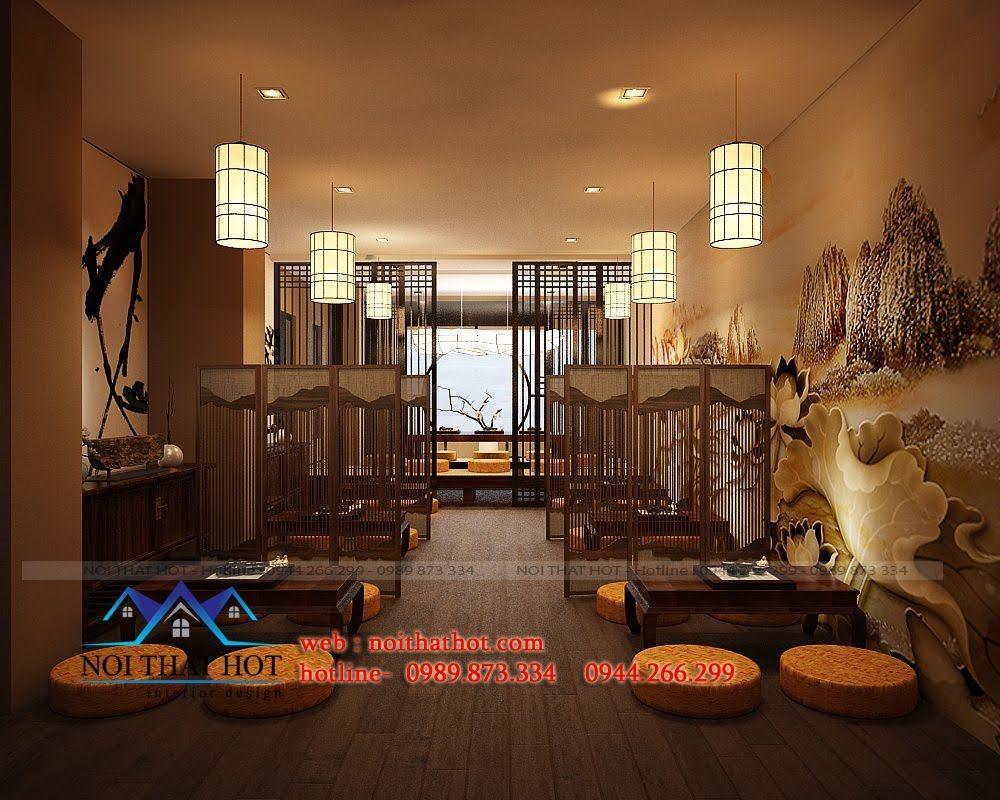 thiết kế quán trà đạo 4