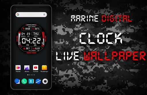 Marine Digital 2 Watch Face & Clock Live Wallpaper 1.07 screenshots 11