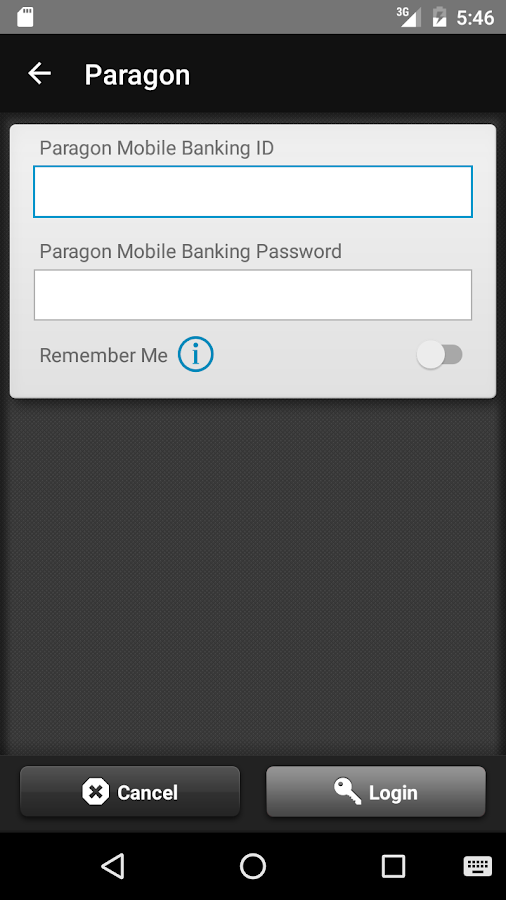 Paragon Bank- screenshot