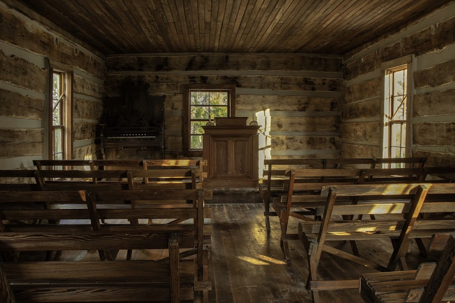 COUNTRY CHURCH by Dana Johnson - Buildings & Architecture Places of Worship ( country, log cabin, church, worship, building, architecture )