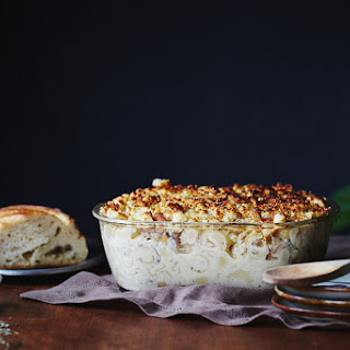 Roasted Garlic + Chanterelle Mushroom Mac and Cheese