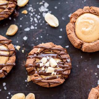 Chocolate Peanut Butter Tartlets.