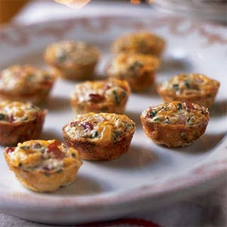 Mini Frittatas with Ham and Cheese.