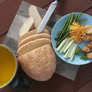 Easy Pumpkin Soup With Freshly Baked Bread.