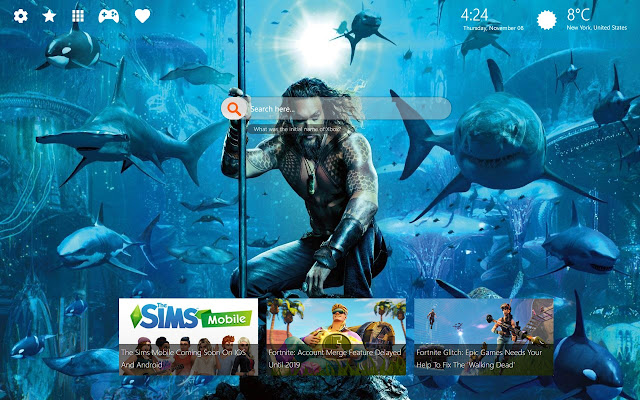 Aquaman Wallpapers Full HD New Tab Themes