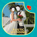 Rustic Wedding Couple Face Changer icon