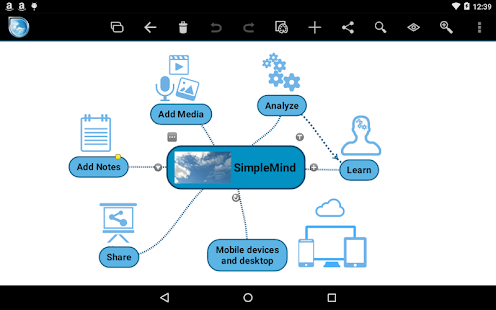 SimpleMind mind mapping- screenshot thumbnail
