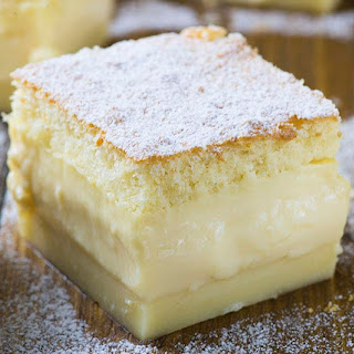 Vanilla Magic Custard Cake.