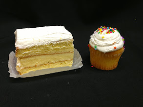 Photo: CUTS® are equivalent to 2.5 cupcakes in weight. Unlike cupcakes, CUTS are cut to size from large sheet cakes, instead of being baked small like cupcakes. Thus, CUTS are moist not dry.