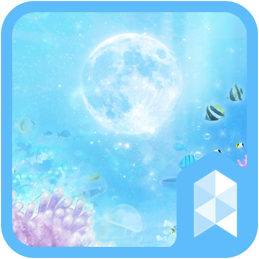 Moon and Under the Sea Widgetpack Launcher theme
