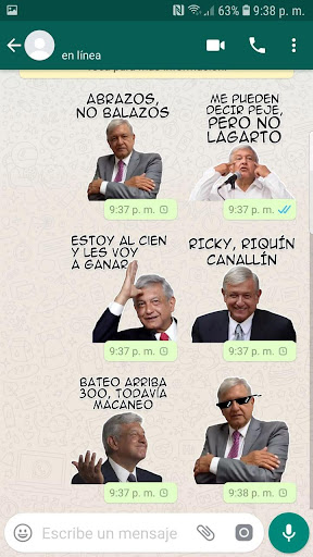 Screenshot for AMLO Sticker Pack OFICIAL in United States Play Store