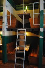 Photo: Lunch at Bangalore, an Indian restaurant that serve their guests in bunk booths.