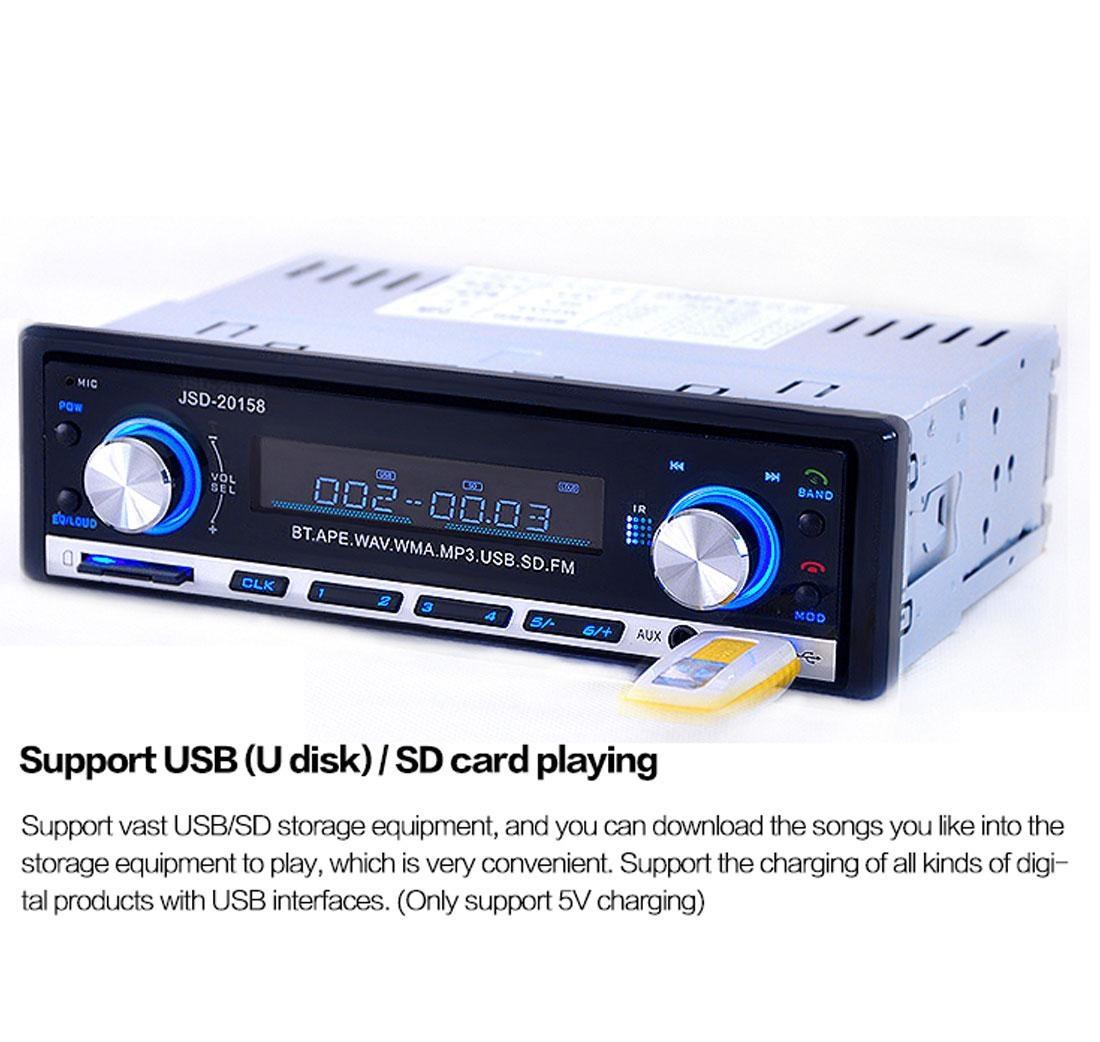 Autoradio Bluetooth Encastré Multifonctions Lecteur MP3 Radio FM entrée Aux Port SD & USB Kit Mains Libres www.avalonkef.com b.jpg