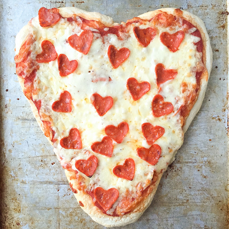Heart Shaped Pizzas for Valentine's Day