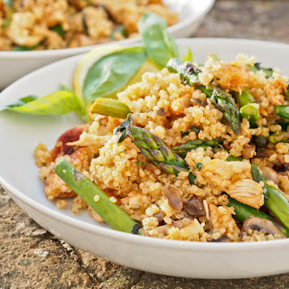 Quinoa with Paprika Chicken and Asparagus Recipe
