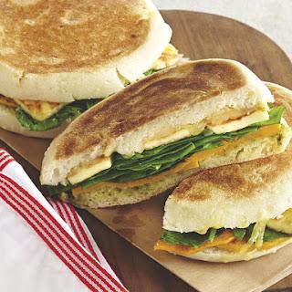 Butternut Squash, Spinach and Halloumi Flatbread