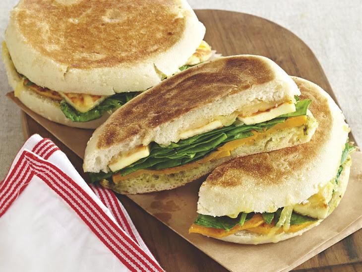 Butternut Squash, Spinach and Halloumi Flatbread Recipe | Yummly