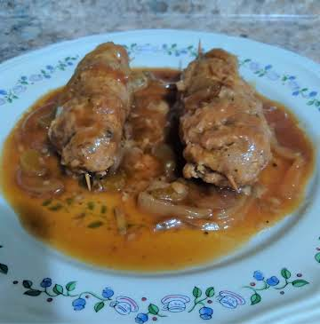 STUFFED BEEF ROULADEN  My Way For Two In Crock Pot