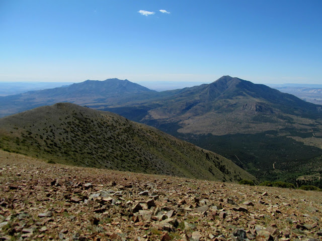 Mount Hillers (left) and Mount Pennell