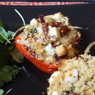 Mediterranean Halloumi and Couscous Stuffed Roasted Peppers