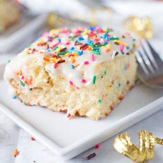Homemade Funfetti Sheet Cake.
