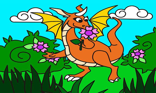 子供のためのドローイング - ドラゴン