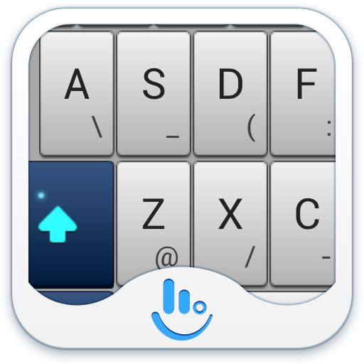TouchPal Blue Keyboard Theme