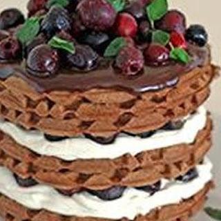 Black Forest Cherry Waffle Cake.