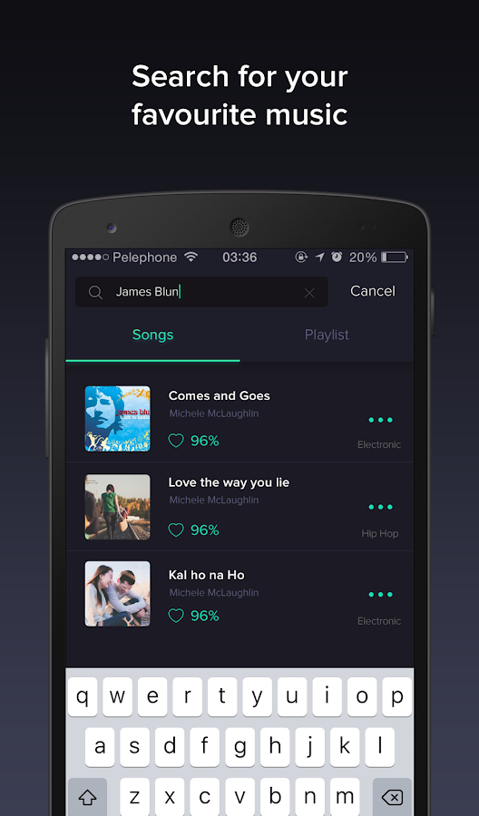 Pindrop Music -smart playlists- screenshot